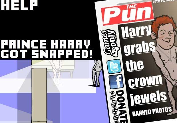 O jogador perde quando o príncipe é flagrado e aparece nu em capa de jornal (Foto: Reprodução)