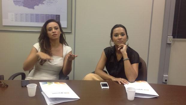 Thaissa Carvalho e Suzana Pires (Foto: Divulgação/RPC TV)