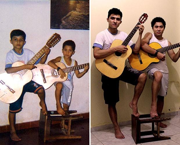 Ricardo e Ronael mostram afinidade com a música desde muito cedo (Foto: Divulgação)