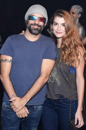 Alinne Moraes e o marido, Mauro Lima, em festa no Centro do Rio (Foto: Ari Kaye/ Divulgação)