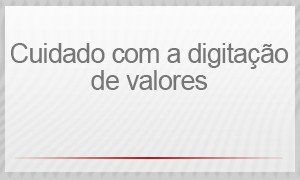 Selo - Cuidado com a digitação de valores (Foto: G1)