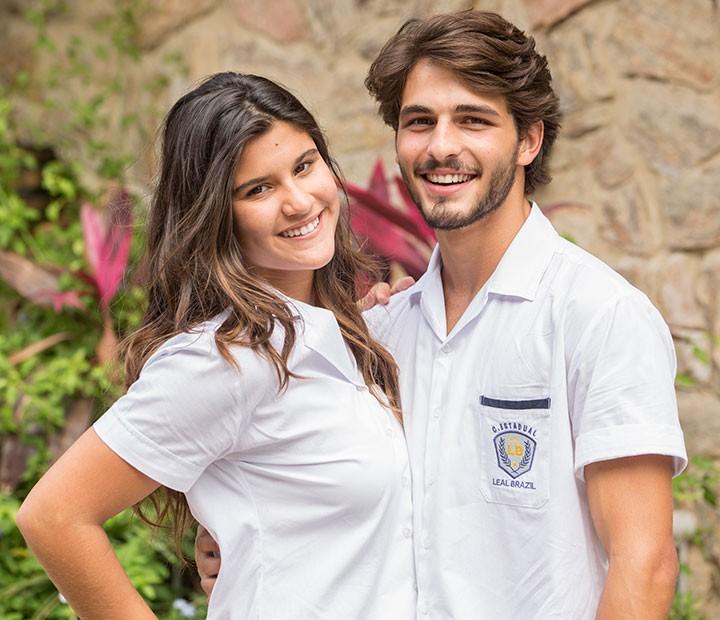 Giulia Costa e Brenno Leone repercutem cenas quentes em 'Malhação' (Foto: Felipe Monteiro/Gshow)
