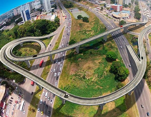 Compexo Viário entre a Paralela e o Imbuí, em Salvador, Bahia (Foto: Divulgação)