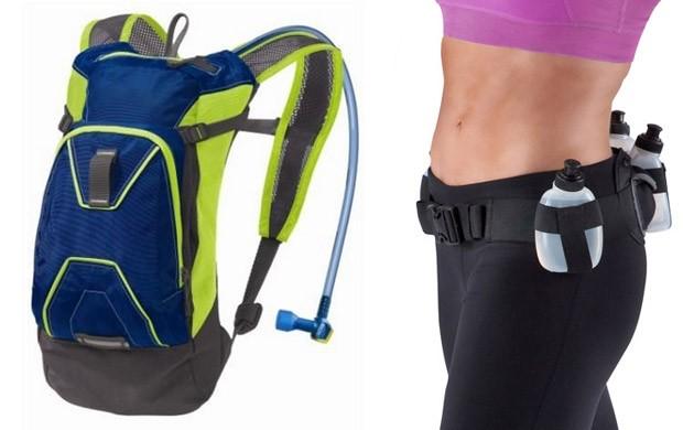 mochila de hidratação cinto de hidratação EU Atleta (Foto: Montagem sobre foto de Divulgação)