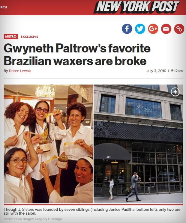 """Reportagem fala sobre situação financeira das donas do J Sisters: """"falidas"""" (Foto: Reprodução)"""