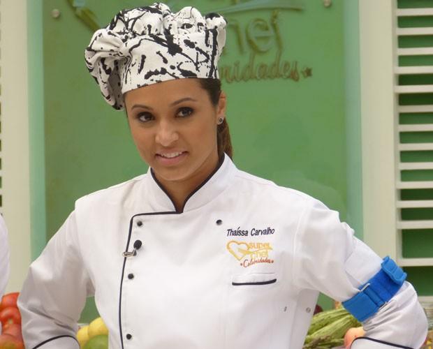 Thaíssa Carvalho Super Chef (Foto: Mais Você/ TV Globo)