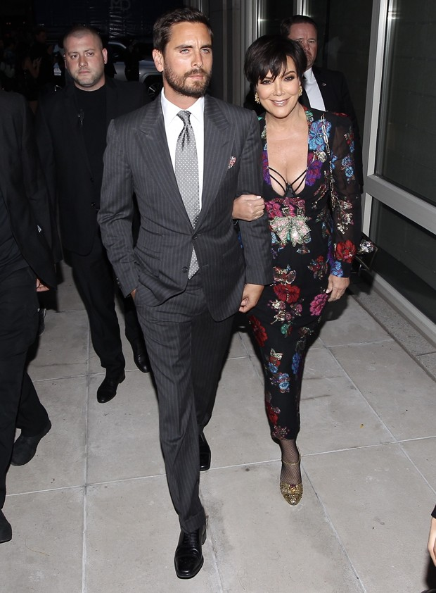 Kris Jenner e Scott Disick (Foto: Backgrid)