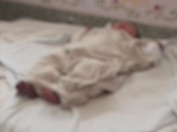 Recém-nascida Lages (Foto: Reprodução/RBS TV)