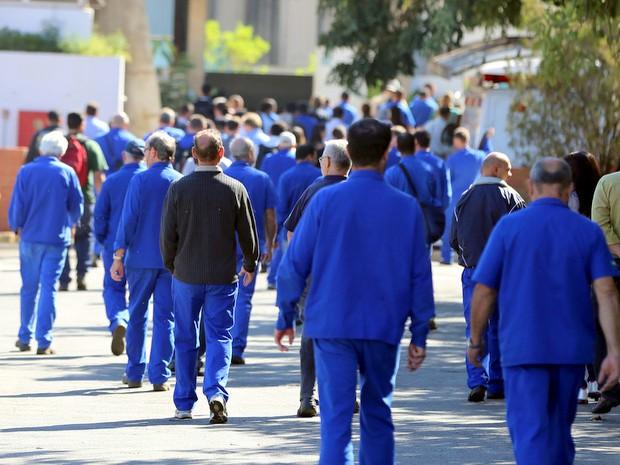 Trabalhadores da Dedini voltaram ao trabalho nesta terça (23) em Piracicaba (Foto: Mateus Medeiros/Sindicato dos Metalúrgicos)