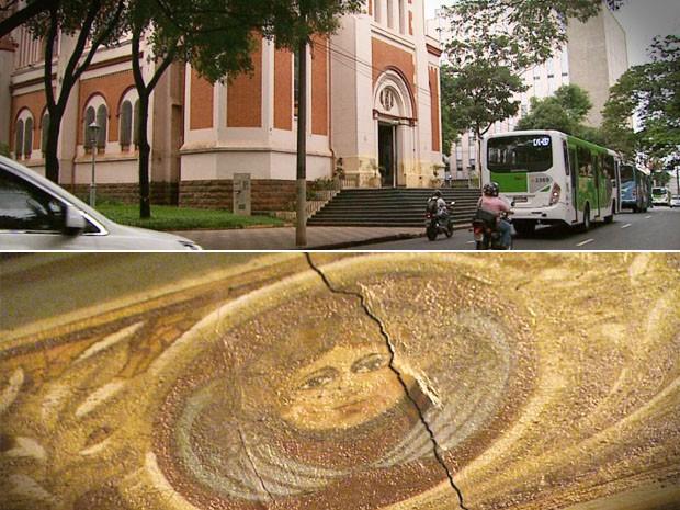 Trânsito pode estar afetando estrutura de igreja em Ribeirão Preto, diz padre (Foto: Reprodução EPTV)
