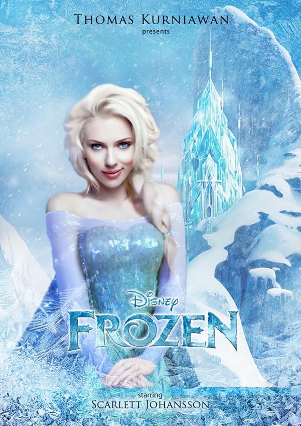 Scarlett Johansson como Elsa de 'Frozen - Uma Aventura Congelante' (Foto: Thomas Kurniawan)