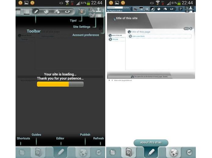 Página de loading já mostra o menu como funciona (Foto: Reprodução/Thiago Barros)