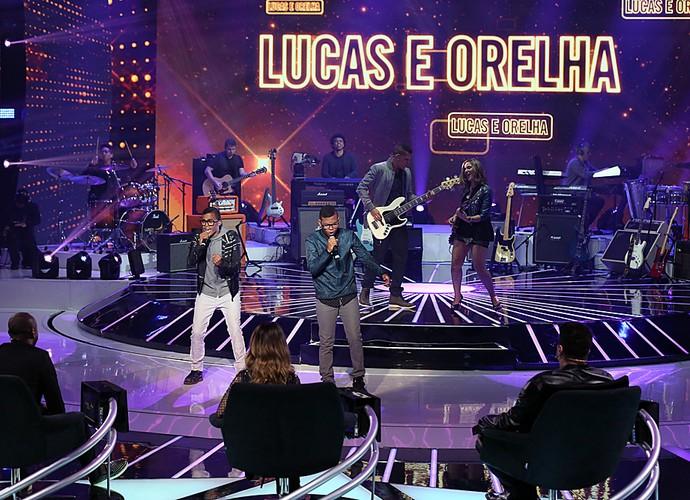 Lucas e Orelha se apresentam pela segunda vez na final do SuperStar (Foto: Isabella Pinheiro/Gshow)