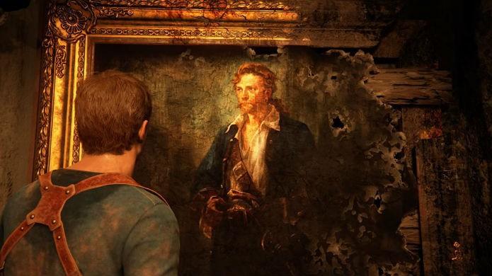 Uncharted 4 mostra um quadro de Guybrush, pirata de Monkey Island (Foto: Reprodução/Thomas Schulze)