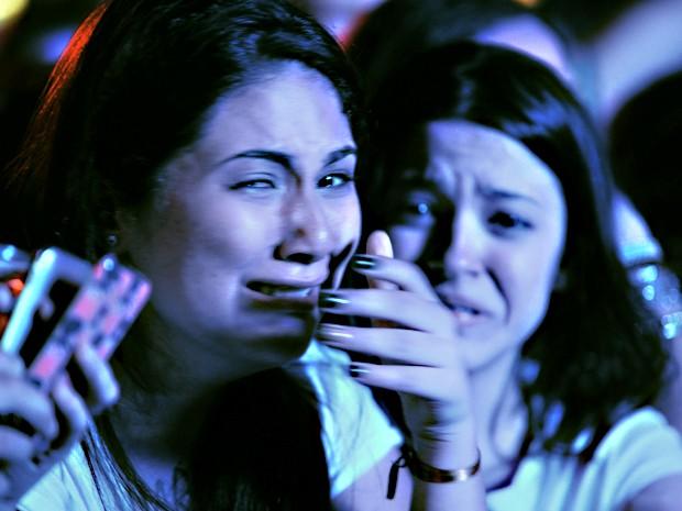 Choro e histeria marcaram a apresentação de Demi Lovato no Z Festival em São Paulo (Foto: RaulZito/G1)