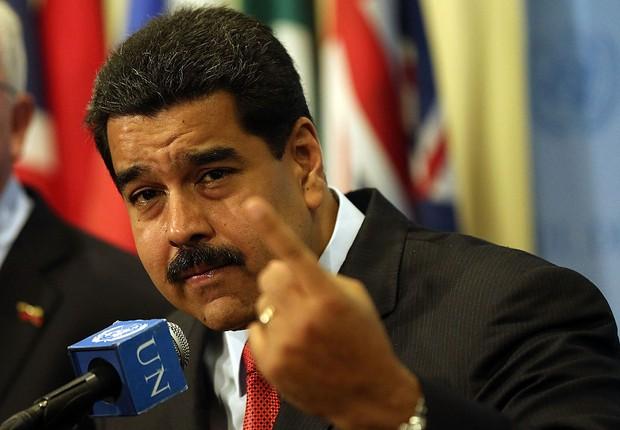 O presidente da Venezuela, Nicolás Maduro , se prepara para discurso na ONU (Foto: Spencer Platt/Getty Images)
