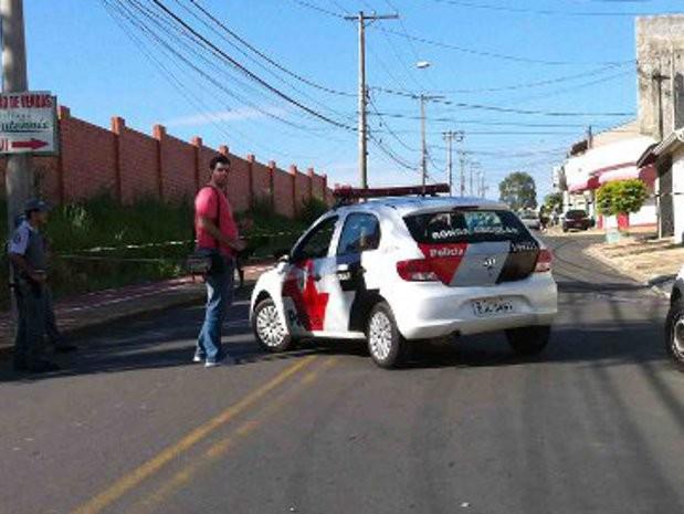 Casal foi assassinado em Salto  (Foto: Paulo Almeida/ TEM Você)