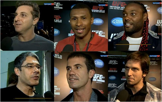 Famosos comparecem ao UFC Rio III (Foto: Reprodu&#231;&#227;o SporTV)