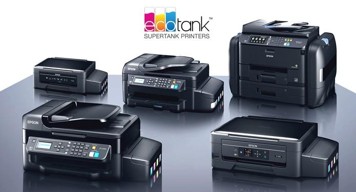 Linha EcoTank tem cinco versões diferentes, todas com um reservatório de tinta que elimina a necessidade de recargas constantes (Foto: Divulgação/Epson)