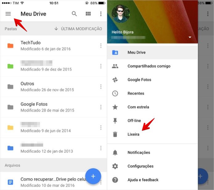 how to download google drive photos onto iphone