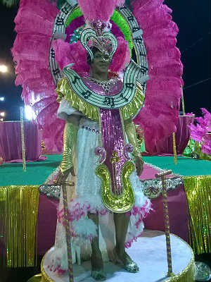 Regina Rabello Partido Alto Carnaval 2015 Juiz de Fora (Foto: Roberta Oliveira/ G1)