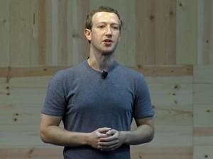 Mark Zuckerberg, fundador do Facebook, falou sobre implantação do botão 'não curti' em evento da empresa (Foto: Reprodução/Stream)