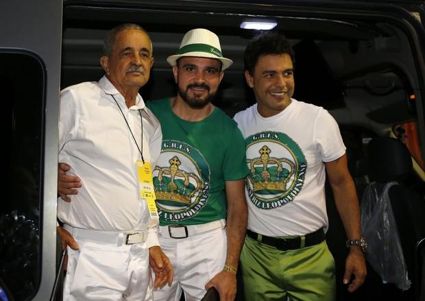 Seu Francisco, Luciano e Zezé Di Camargo (Foto: Marcos Serra Lima / EGO)