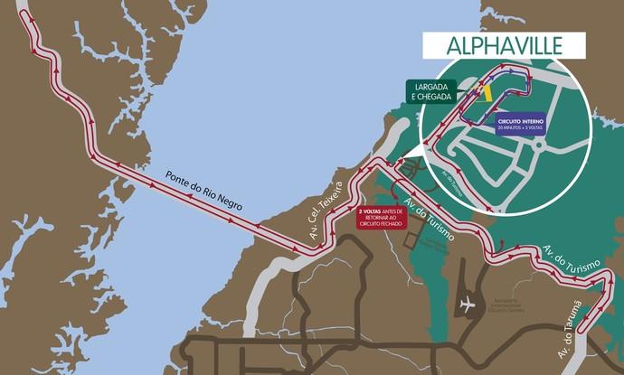 Mapa Ciclísticas Aguinaldo e Amélia Archer Pinto 2014 (Foto: GloboEsporte.com)