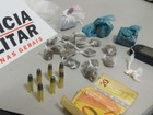 Jovem escondia drogas em galinheiro (Policia Militar/ Divulgação)