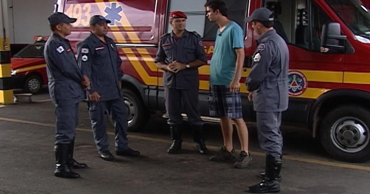 Jovem que caiu de 25 m agradece bombeiros de Araxá pelo resgate - Globo.com