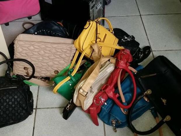Malas e bolsas foram encontradas com o suspeito em Pirapora (Foto: Divulgação/Polícia Civil)