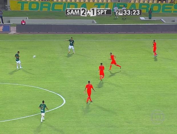 Sampaio Corrêa x Sport (Foto: Reprodução/TV Globo)