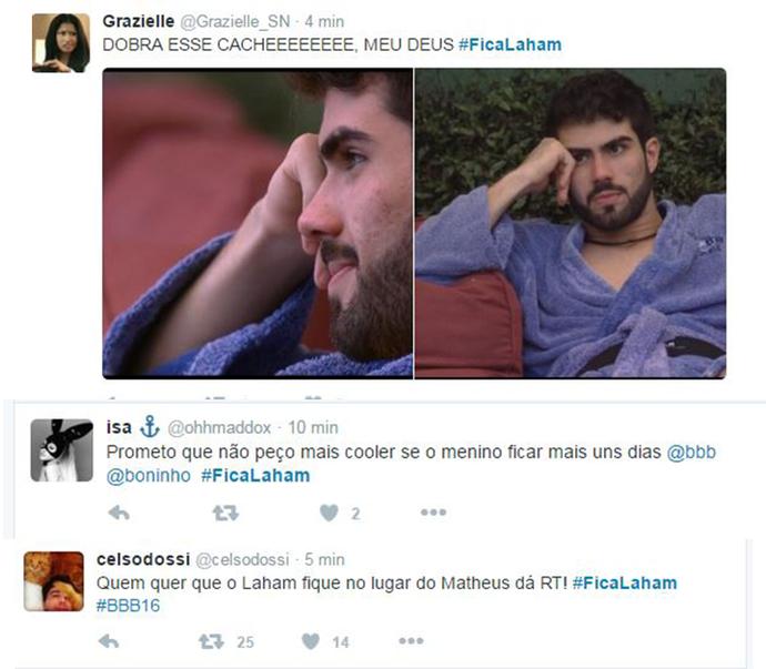 Laham_Tweet 7 (Foto: Reprodução Internet)