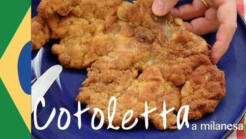 Bife a Milanesa a verdadeira Cotoletta alla Milanese