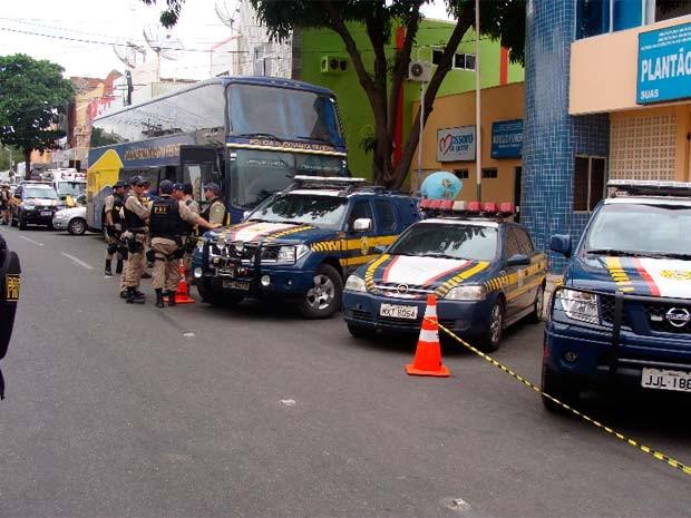 Operação Cangueiros mobilizou forte aparato policial na cidade de Mossoró (Foto: Cedida)