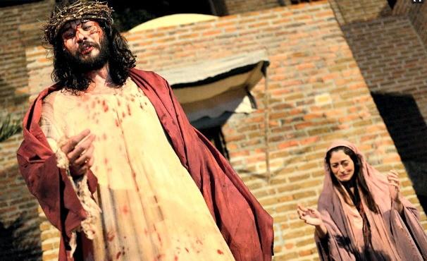 Paixão de Cristo- Nova Jerusalém (Foto: Luka Santos/G1)