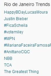 Trending Topics no Rio às 17h13 (Foto: Reprodução/Twitter.com)