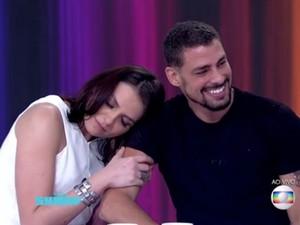 Monica Iozzi e Cauã Reymond no Vídeo Show (Foto: TV Globo)