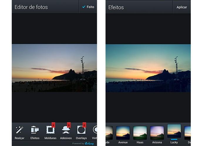 Aviary permite adicionar filtros, fazer ajustes e mais recursos (Foto: Reprodução/Barbara Mannara)