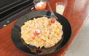 Galinhada: sobrecoxa de frango com arroz