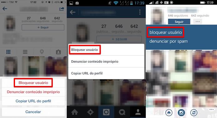 Bloqueando um seguidor no Instagram (Foto: Reprodução/Helito Bijora)
