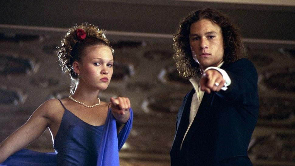 Julia Stiles e Heath Ledger em '10 Coisas que Eu Odeio em Você' (Foto: Divulgação)