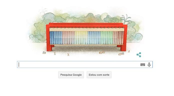 Ilustração do MASP, de Lina do Bardi, em Doodle do Google (Foto: Reprodução/Google)