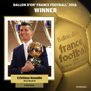 Bola de Ouro Cristiano Ronaldo France Football (Foto: Reprodução/France Football)