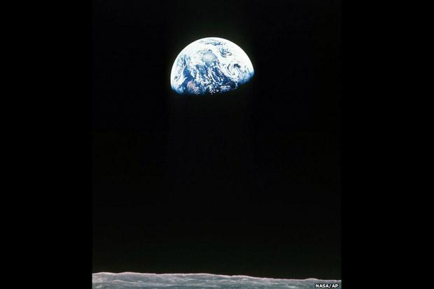 A Terra, fotografada pela tripulação da missão Apollo 11, em julho de 1969 (Foto: Nasa/AP)