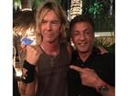 Sylvester Stallone tem momento de fã ao lado de Duff McKagan