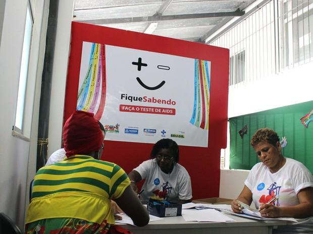 Teste rápido HIV em Salvador (Foto: Prefeitura de Salvador/Divulgação)