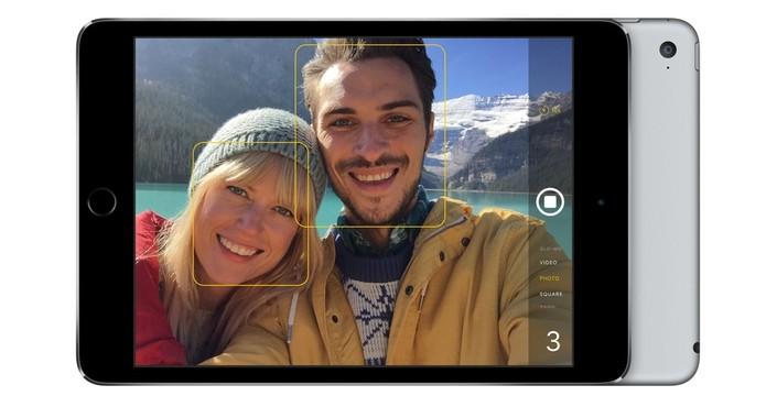 Com câmera de 8 MP iPad Mini 4 ganha da versão anterior  (Foto: Com câmera de 8 MP iPad Mini 4 ganha da versão anterior )