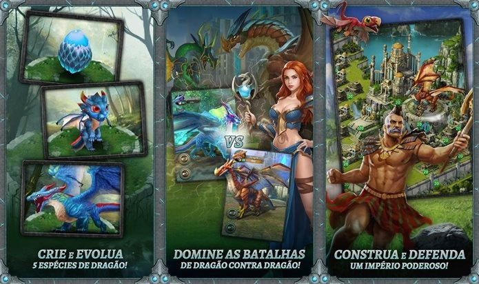 Dragões épicos são o destaques nesse jogo (Foto: Divulgação)