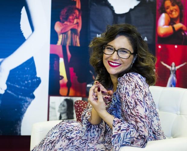 Maria Rita nos bastidores do Sai do Chão (Foto: Cynthia Salles)